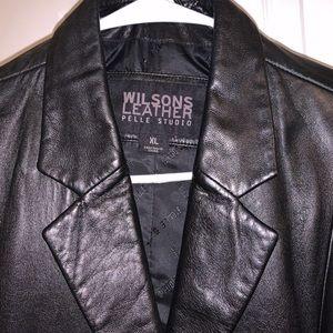 Wilson's leather trench coat!